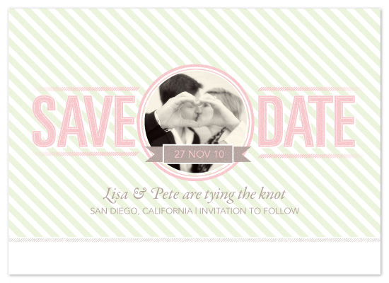save the date cards - Candy Stripes by Natalie Sullivan Graphic Design