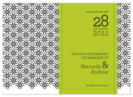 save the date cards - Pairings by Linda Loiewski