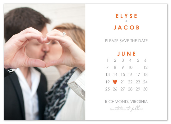 save the date cards - Calendar by Lina Goldberg