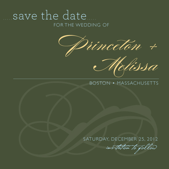 save the date cards - Tuscany by LW