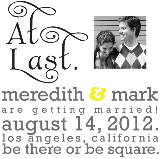 save the date cards - Be Square by Sarah Rose