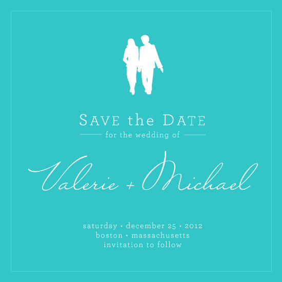 save the date cards - Hand in Hand by LW