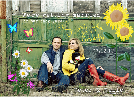 save the date cards - Backyard beautiful by zori levine
