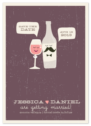 save the date cards - Little Wine Charmers by Coco and Ellie Design