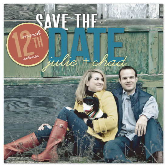 save the date cards - Date-stamp Save the Date by Melissa Spivey