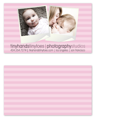 business cards - Childrens Photo Striped Card by GarriguesGraphics