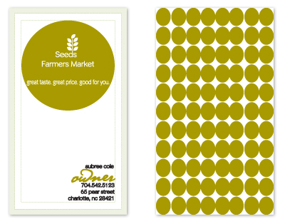 business cards - Seeds Farmers Market by olive paperie