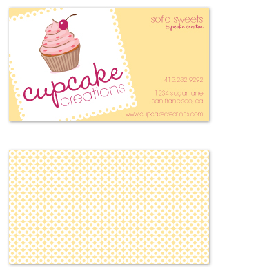business cards - Cupcake Creations by GarriguesGraphics
