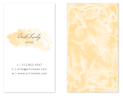 business cards - Artist Paint by Lehan Veenker