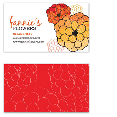 business cards - Funky Fresh Flowers by Whimsical Wedding Invitations