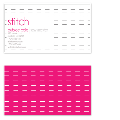 business cards - Stitch  by olive paperie