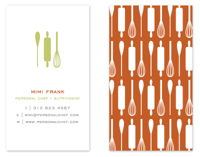 business cards - Personal Chef by Lehan Veenker