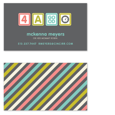 business cards - Blocks of Fun by Carrie ONeal