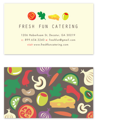 business cards - All The Right Ingredients by Kristen Smith