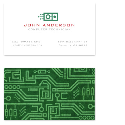 business cards - Circuit Board by Kristen Smith