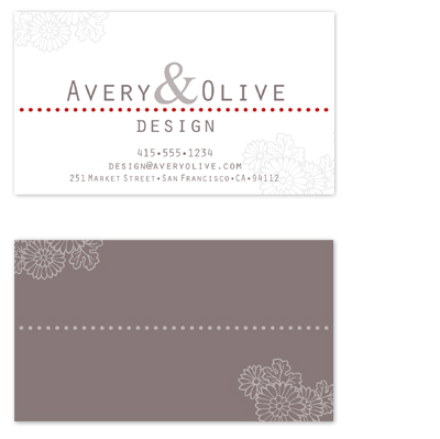 business cards - On the Dotted Line by Kiri Moth