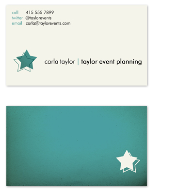 business cards - Superstar by Kiri Moth