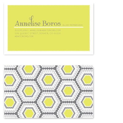business cards - Mod Honeycomb by Laurens