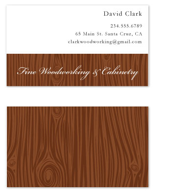 Business cards fine woodworking at for House flipping business names