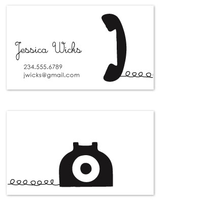 business cards - Telephone by Kelly Preusser