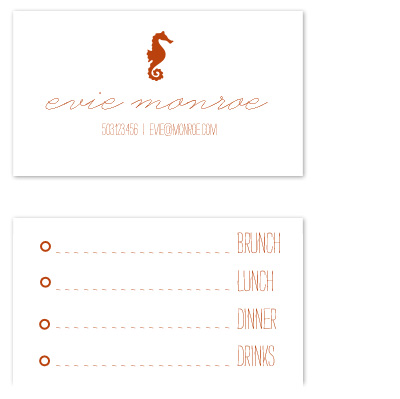 business cards - Seahorse Simple by Epitome by Renner Design