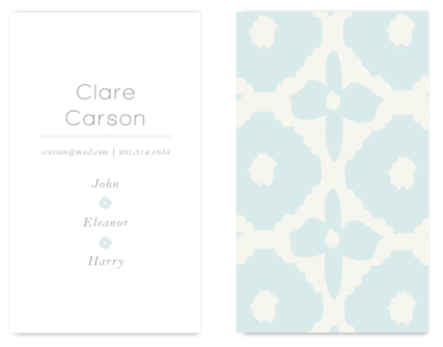 business cards - Oversized Ikat by Laurens