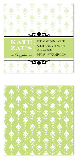 business cards - victorian wedding planner by freshead creative