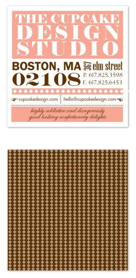 business cards - cupcake typography by freshead creative
