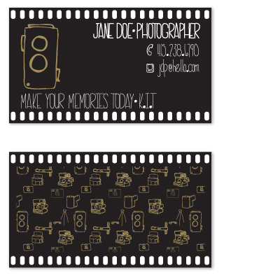 business cards - camera film by blackwhite press