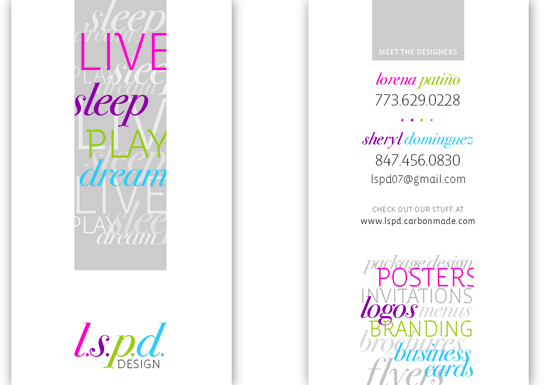 business cards - LSPD design by Lorena Patino