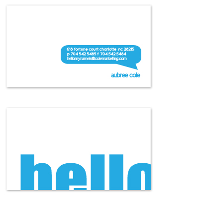 business cards - Hello my name is.. by olive paperie