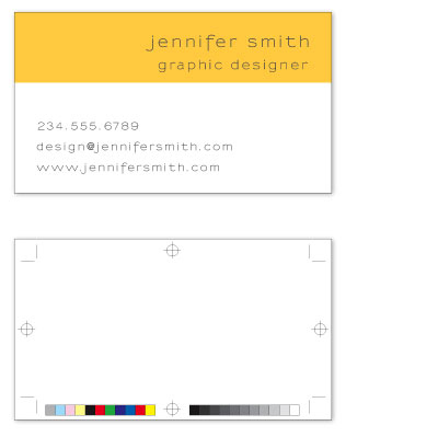 business cards - Registration Marks by Kelly Preusser