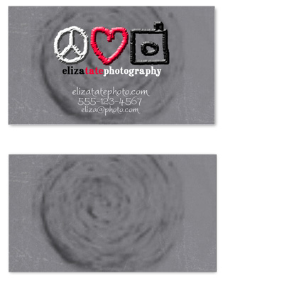 business cards - peace love photo by Angela Holden
