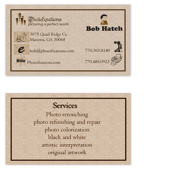 business cards - Icon c u by Robert Hatch
