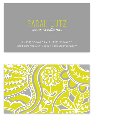 business cards - Pop Paisley  by Laura Hankins