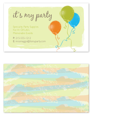 business cards - Party Swag by Bridget Collins