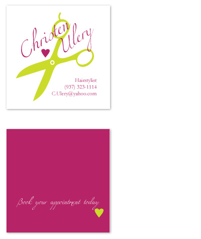 business cards - Love Your Hair Business Card    by Laura Elizabeth Designs