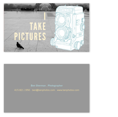 business cards - I Take Pictures by i heart design studio
