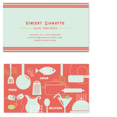 business cards - sizzling kitchen by chocomocacino