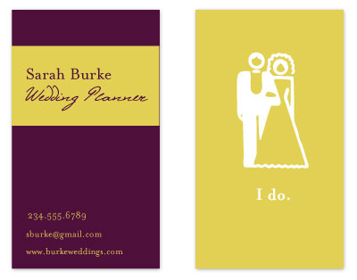 business cards - Bride & Groom by Kelly Preusser