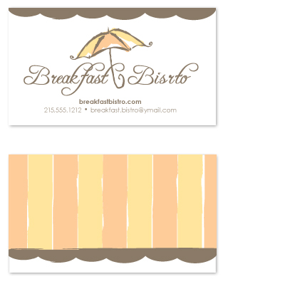 business cards - Beautiful Bistro by Bridget Collins