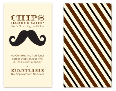 business cards - Mustache Mania by Bridget Collins
