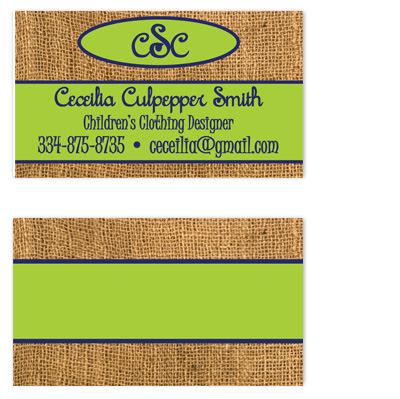 business cards - Burlap Classy by Amy Pearson