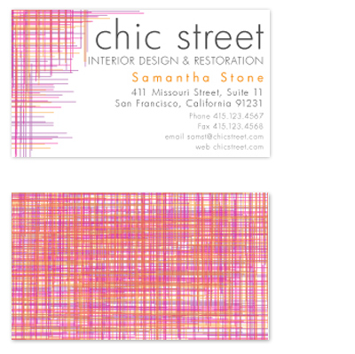 business cards - Woven Threads by xyz studio
