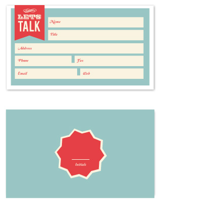 business cards - Fill In the blanks business card by chica design