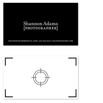 business cards - Viewfinder  by Kristin Royer