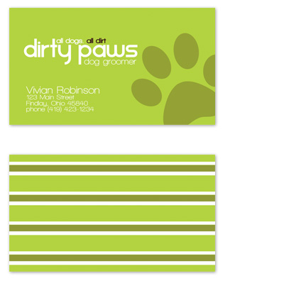 business cards - all dogs. all dirt. by tucker-halm design