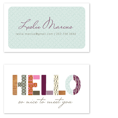 business cards - hello patterns by Alethea and Ruth