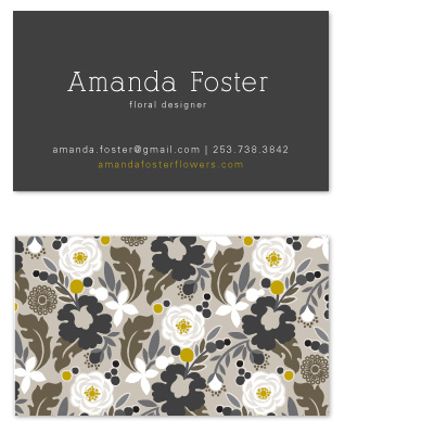 business cards - Clean Cut Florals by Alethea and Ruth