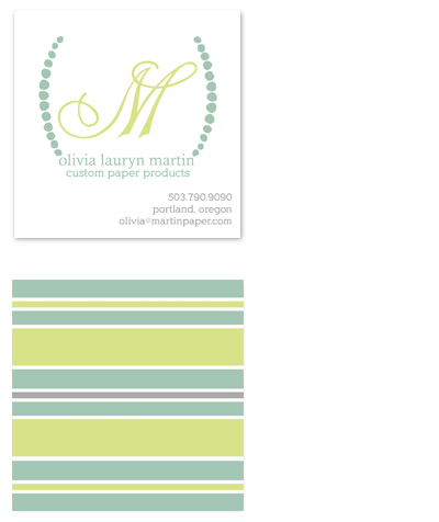 business cards - Paper Business - Summer Stripes by l